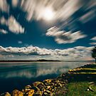Noosa River Mouth Under a Full Moon by Sam Frysteen