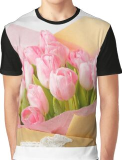 Bouquet of pink tulips Graphic T-Shirt