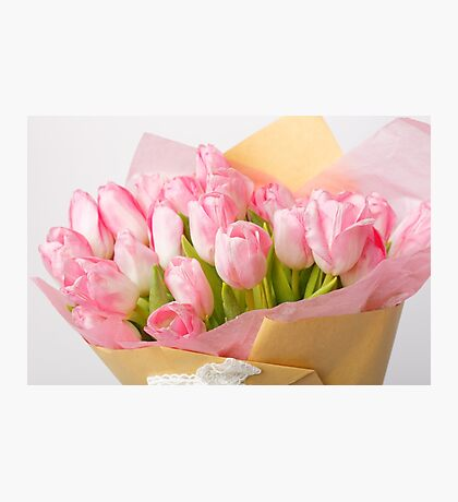 Bouquet of pink tulips Photographic Print