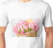 Bouquet of pink tulips Unisex T-Shirt