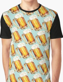 Beer Pattern Graphic T-Shirt