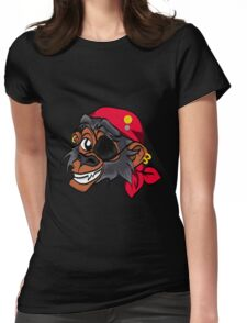 Monkey Pirate Womens Fitted T-Shirt