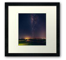 Milky Way over Lake Weyba Framed Print