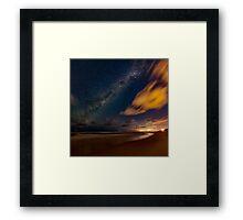 Milky Way over Sunshine Beach Framed Print