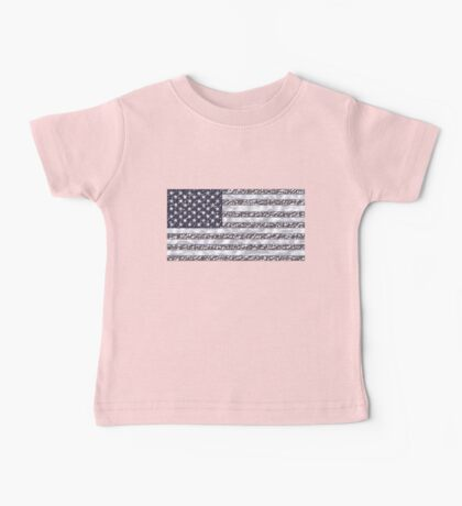 USA Flag Chrome Baby Tee