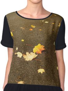 Maple leaves in autumn Chiffon Top