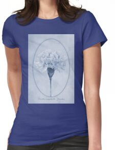 Carnation Cyanotype Womens Fitted T-Shirt