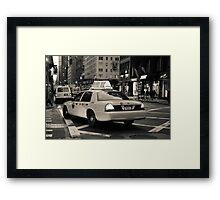 New York city taxi Framed Print