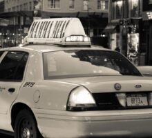New York city taxi Sticker
