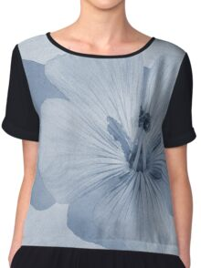 Linen Watercolour Cyanotype Chiffon Top