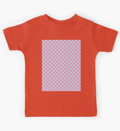 Polka Dot Pink Blue Pastel Pattern Kids Tee