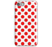 Polka Dot Red and White Pattern iPhone Case/Skin