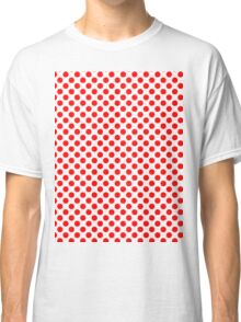 Polka Dot Red and White Pattern Classic T-Shirt