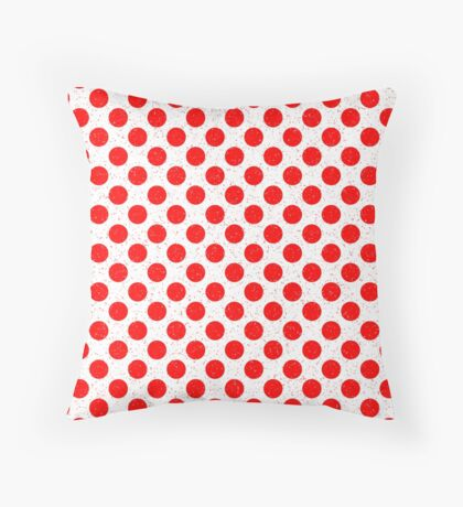 Polka Dot Red and White Pattern Throw Pillow