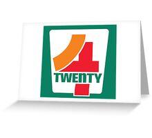 4-Twenty 7-Eleven Greeting Card