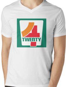 4-Twenty 7-Eleven Mens V-Neck T-Shirt