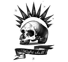 misfit skull Photographic Print