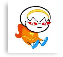 rose lalonde wearing terezi's glasses - homestuck sprite Canvas Print