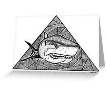 Geometric Shark Greeting Card