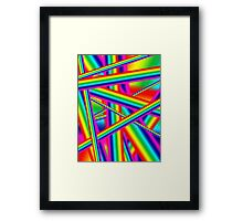Bright Psychedelic Rainbow  Framed Print