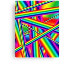 Bright Psychedelic Rainbow  Canvas Print
