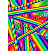 Bright Psychedelic Rainbow  Photographic Print