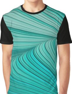Folded Blue Green Abstract Graphic T-Shirt