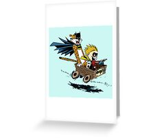 Calvin Hobbes Explore Greeting Card