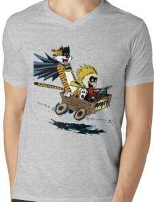 Calvin Hobbes Explore Mens V-Neck T-Shirt