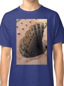 The Lost Straw Hat - Antoni Gaudi La Pedrera Courtyard From Above - Vertical Classic T-Shirt
