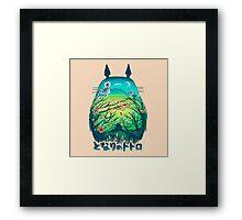 Totoro Neighbor Landscape Framed Print
