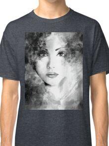 Beautiful woman face. Abstract fashion illustration Classic T-Shirt