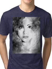 Beautiful woman face. Abstract fashion illustration Tri-blend T-Shirt