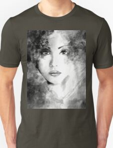 Beautiful woman face. Abstract fashion illustration Unisex T-Shirt