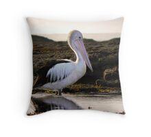Pelican morning Throw Pillow