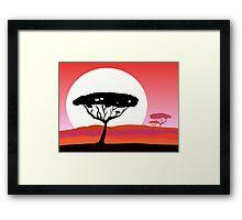 African Safari wild Designers Framed Print
