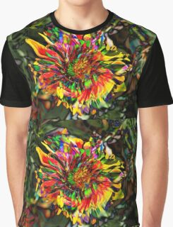 Psychedelic Flower Graphic T-Shirt
