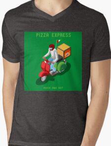 Pizza Scooter Express Mens V-Neck T-Shirt