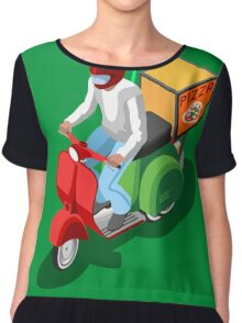 Pizza Scooter Express Chiffon Top
