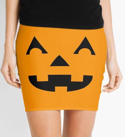 Jack O Lantern Face Mini Skirt