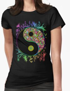 Yin Yang Bamboo Psychedelic Womens Fitted T-Shirt