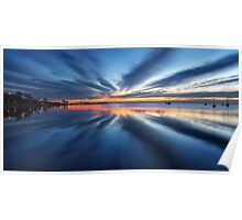 Day break - Corio bay Poster