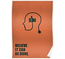 Believe it can be done - Business Quote Poster