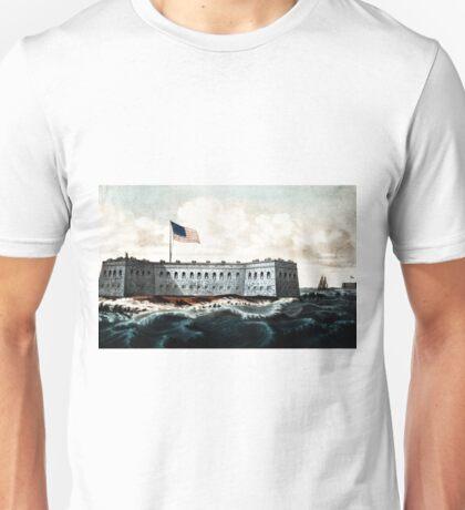 Fort Pickens - Pensacola Harbor, Florida - 1870 - Currier & Ives Unisex T-Shirt