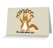 A bit of Squirrel love Greeting Card
