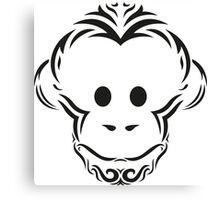 Tribal Monkey Canvas Print