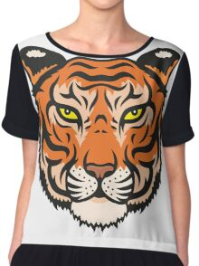 Tiger Chiffon Top