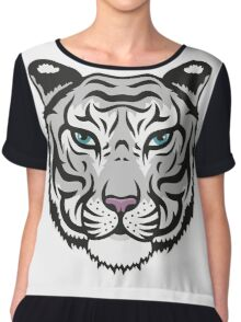 White Tiger Chiffon Top