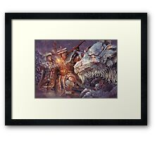 Meeting the Elder Dragon Framed Print