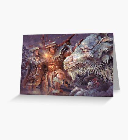 Meeting the Elder Dragon Greeting Card